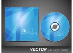 蓝色几何图形CD封面设计
