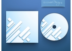 白色长条CD封面设计