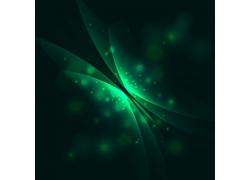 炫光绿色抽象矢量背景