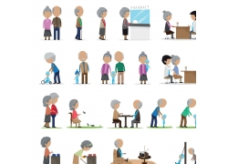 卡通一家人的生活图片