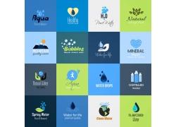 彩色环保节水图标