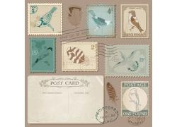复古风格的邮票