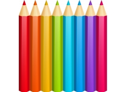 五颜六色的彩铅