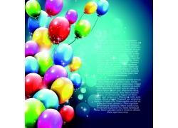 五颜六色的气球背景素材