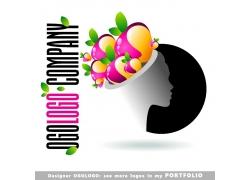 女性插画logo图片