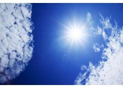 天上的太阳光