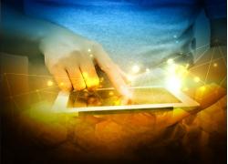 商务信息网络科技背景