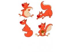 可爱的卡通松鼠