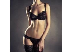 黑色内衣模特