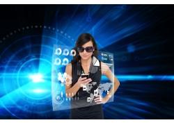 现代商务网络科技背景