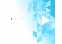 蓝色三角形几何图案背景