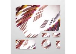 时尚艺术背景企业VI设计