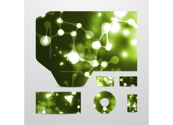 绿色抽象背景企业VI设计