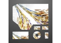 炫彩抽象背景企业VI设计