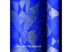 蓝色几何背景宣传手册设计图片