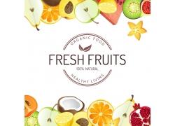 新鲜水果背景边框