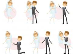 结婚的新人情侣