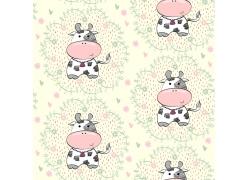 花纹奶牛背景