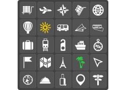 旅游主题图标按钮图片