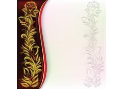 复古花纹背景边框