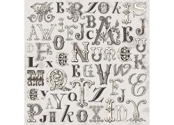 欧式风格英文字母艺术字体背景