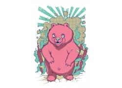 卡通熊插画图片