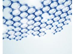 蓝色分子结构图