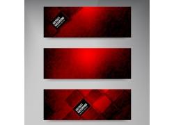 红色方块海报背景