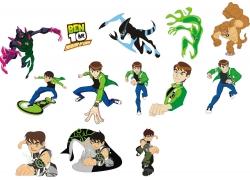 卡通怪兽与卡通男孩图片