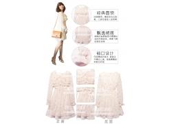 雪纺裙细节展示