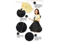 时尚裙子细节展示
