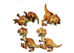 立体卡通恐龙图片