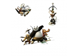 功夫熊猫卡通素材图片