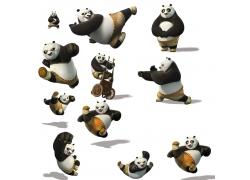 卡通熊猫形象图片