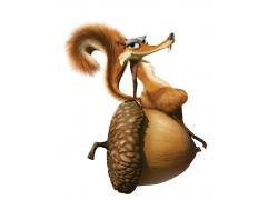 冰河世纪松鼠和坚果形象图片