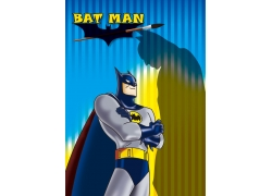 卡通篇幅侠和影子图片