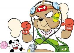 卡通熊猫与卡通小熊图片