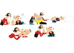 卡通大力水手图片