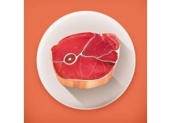 卡通牛肉图片