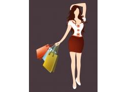 矢量购物美女图片