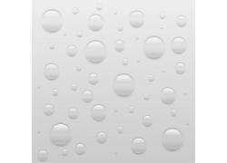 灰色背景透明水珠