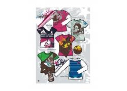 各种女性T恤设计素材