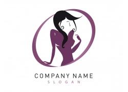 卡通美女插画logo图片