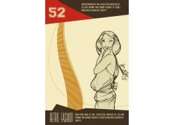 时尚女性插画图片
