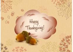 感恩节树叶背景