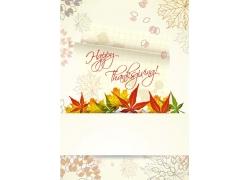 感恩节花纹背景
