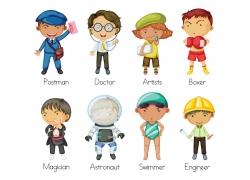 卡通儿童职业人物图片