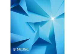 蓝色立体三角背景