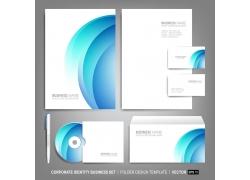 蓝色梦幻曲线VI设计
