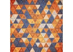 三角图案拼图背景